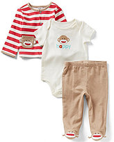 Baby Starters Baby Boys 3-9 Months Sock Monkey 3-Piece Layette Set