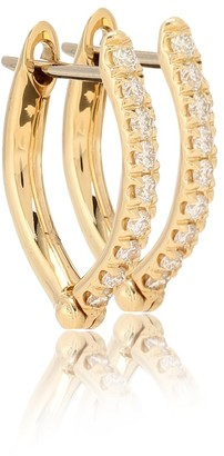Melissa Kaye Cristina Small 18kt gold and diamond earrings