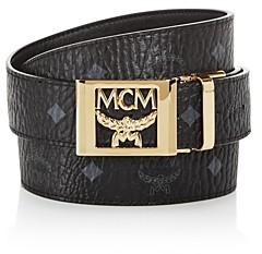 MCM Men's Logo Monogram Belt