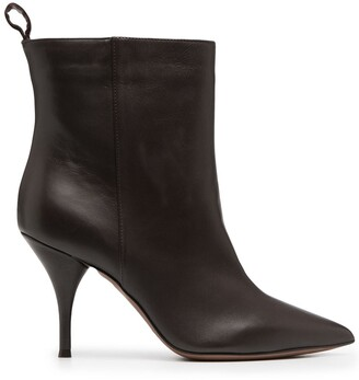 L'Autre Chose Leather Pointed-Toe Boots