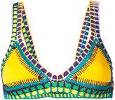 Kiini Embroidered Ro bikini top - women - Cotton/Nylon/Polyester/Spandex/Elastane - L