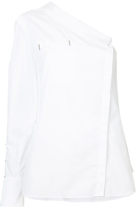 Thierry Mugler Asymmetric One-Shoulder Shirt