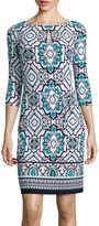 Liz Claiborne 3/4-Sleeve Sheath Dress