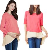 Sweet Mommy Maternity and Nursing Layered A-line Nursing Top CAMWHF