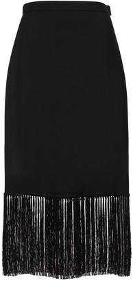 Burberry Cool Mohair Midi Skirt W/ Fringes
