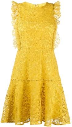 Pinko Ruffle Trim Lace Dress