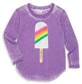 Chaser Toddler's & Little Girl's Rainbow Ice-Cream T-Shirt