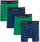 Fruit of the Loom Boys Signature 4-Pack Striped Boxer Briefs