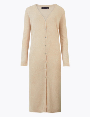 Marks and Spencer Button Detailed Midi Cardigan