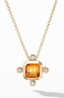David Yurman Novella Pendant Necklace in 18K Yellow Gold with Diamonds