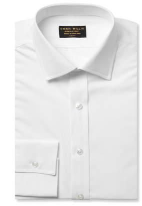 Emma Willis White Slim-Fit Cotton Shirt