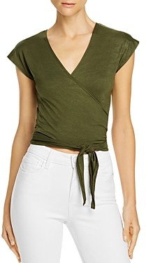 Rosie G Cropped Wrap Top