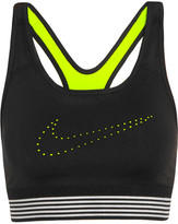 Nike Pro Classic Mesh-trimmed Perforated Stretch-jersey Sports Bra - Black