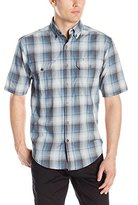 Wolverine Men's Ausbin Plaid Cotton Madras Short Sleeve Shirt