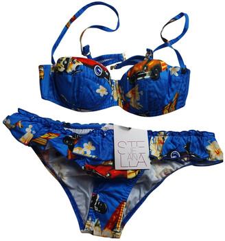 Stella Jean Blue Cotton Swimwear