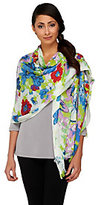 Collection XIIX Floral Print Scarf with Fringe