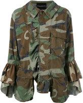 Erika Cavallini - dislocated fastening camouflage jacket - women - Cotton - One Size