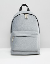 Asos Backpack In Jersey Grey Marl