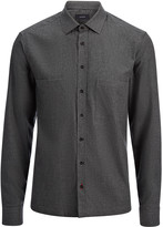 Flannel Shirting Cardington Shirt In Coal