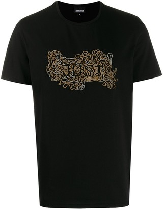 Just Cavalli embellished logo T-shirt