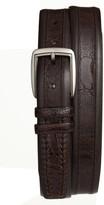 Mezlan Men's Calfskin & Genuine Ostrich Leather Belt