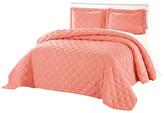 Serenta Charleston Down Alternative Bed Spread Set, Coral, Queen