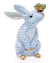 Herend Blue Bunny with Butterfly