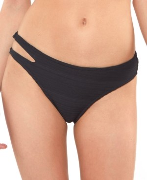 Jessica Simpson Ribbed Cut-Out Bikini Bottoms Women's Swimsuit