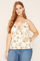Forever 21 FOREVER 21+ Plus Size Floral Print Cami