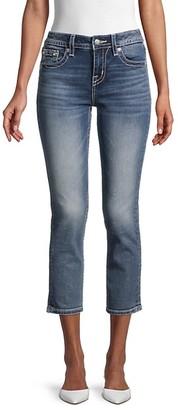 Miss Me Mid-Rise Capri Cotton-Blend Jeans