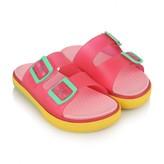 Igor IgorFuchsia & Yellow Maui Jelly Sandals