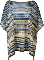 Missoni striped poncho - women - Cotton/Polyamide/Viscose - One Size