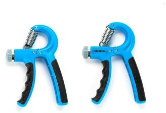 Mind Reader Adjustable 22-132 Lbs Hand Grip Forearm Strengthener - 2 Pack