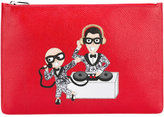 Dolce & Gabbana musical designer patch clutch - men - Calf Leather - One Size
