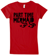 Micro Me Red 'Part Time Mermaid' Tee - Infant Toddler & Girls