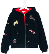 Little Marc Jacobs patch detail hooded jacket