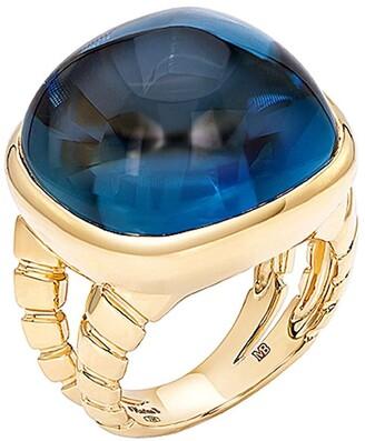 MARINA B 18kt yellow gold Tigella blue topaz ring