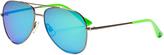 Puma Blue Lens Aviator Sunglasses