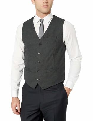 Perry Ellis Men's Slim Fit Stretch Birdseye Pattern Vest