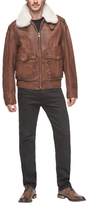 Andrew Marc Corsham Zip Front Leather Jacket