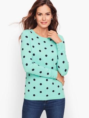 Talbots Cashmere Button Cuff Sweater - Dot