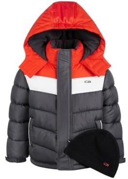 CB Sports Little Boys Colorblocked Puffer Coat