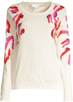 Escada Sport Sequin Embellished Zebra-Print Sweater