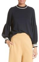 Tibi Women's Wool Puff Sleeve Pullover