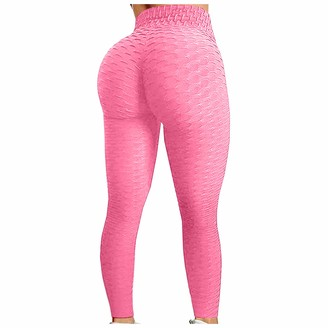 Fannyfuny Home Fannyfuny Gym Leggings Women high Waist Women Honeycomb Anti Cellulite Waffle Leggings Yoga Pants Bubble Textured Scrunch/Ruched Butt Lift Running Tights Yoga Pants Soft Leggings Womens Plus Size