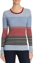 Theory Ribbed Merino Wool Striped Sweater