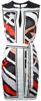Emilio Pucci stripe motif sleeveless dress - women - Silk - 40