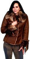 Scully Western Jacket Womens Long Sleeve Faux Fur XL 8010
