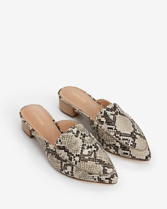 Express Textured Slide Loafers