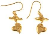 Vivienne Westwood Heart Earrings Gold Vermeil